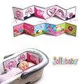 Livros do bebê Pano Macio Livro Silencioso Brinquedos Do Bebê Dos Desenhos Animados Infantil Toddlers Crianças Educativos Stroller Bed Hanging Rattle Toy Plissado