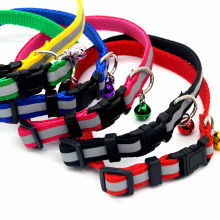 Фотография 6 Colors Dog Cat Traction Rope Haulage Rope Necklace Pet Leash Retractable Dog Collar Leash Chain Collars Small Bell Reflective