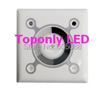 ФОТО 12/24v PWM led dimmer touch interface, square dimmable controller for monochrome lamps,wall mounted,CE&ROHS,free shipping!
