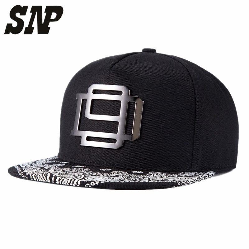 SNP 5panel Snapback Caps flat brim blacks