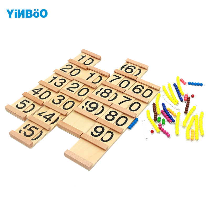 Montessori Educational Wooden Toys For Children Teens and Tens Boards Early Childhood Preschool Training Family Version