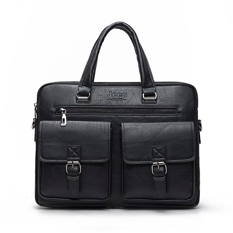 New Men Business Polyester Two Silt Pocket Soft Handle 14 Inches Briefcases Bags Men Split Leather Handbag ZipperNew Men Business Polyester Two Silt Pocket Soft Handle 14 Inches Briefcases Bags Men Split Leather Handbag Zipper