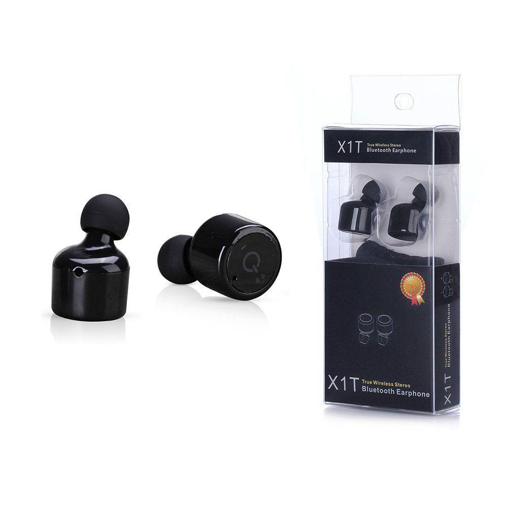 X1T Voice Prompt True In-Ear Earbuds True Wireless Earphones CSR 4.2 Sport Stereo mini bluetooth headset For Iphone 7 Airpods
