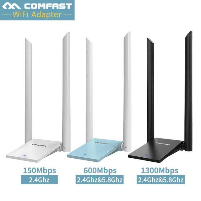 Long Range Dual Band 2.4G 5g Wireless usb wifi adapter 600/1300mbps 802.11ac/b/g/n wifi usb USB3.0 wi fi dongle usb network card
