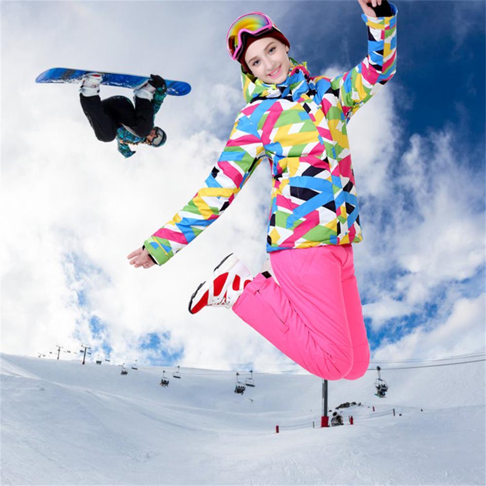 Prix pour Ski de neige veste femme en plein air femmes snowboard manteaux-30 degrés l'hiver étanche randonnée camping thermique vestes