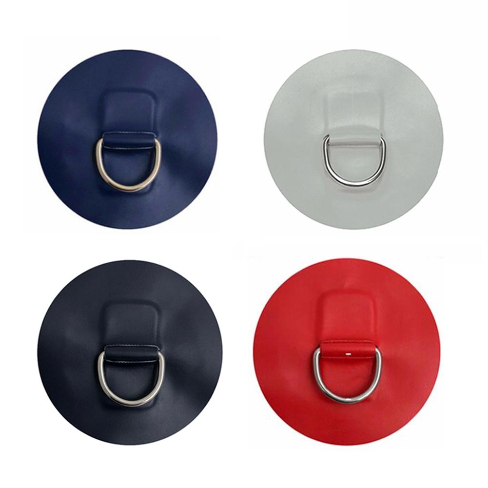 4 X Stainless Steel D-ring Pad//patch for PVC Inflatable Boat Raft Dinghy Kayak