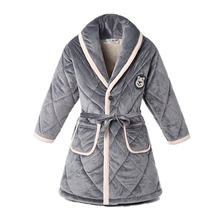 Купить с кэшбэком  Girl Boy Winter Warm Bathrobes Toddler Nightgown Three-layer Thickened Velvet Kids Pajamas Children Bath Robe