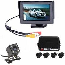 3 W 1 Auto System Wspomagania Parkowania 4.3 Cal Samochód Monitora z Sensory Czujnik Parkowania Z Tyłu Samochodu Widok Kamera Do Samochodu stylizacji