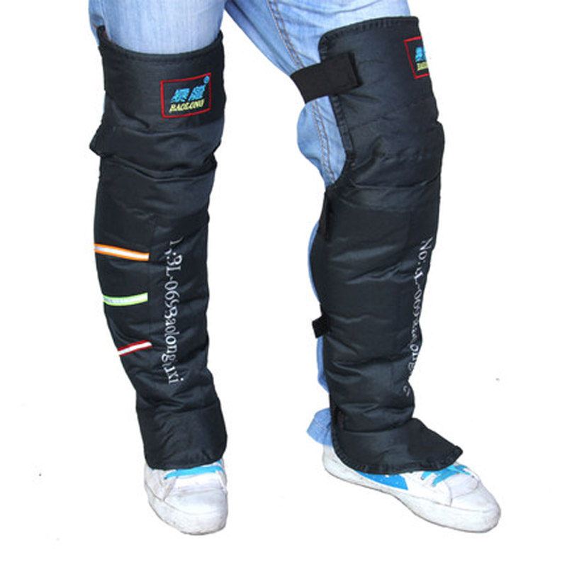 Motorcycle Knee And leg Warm Protector Motocross Knee Pads Leather Soft Villus