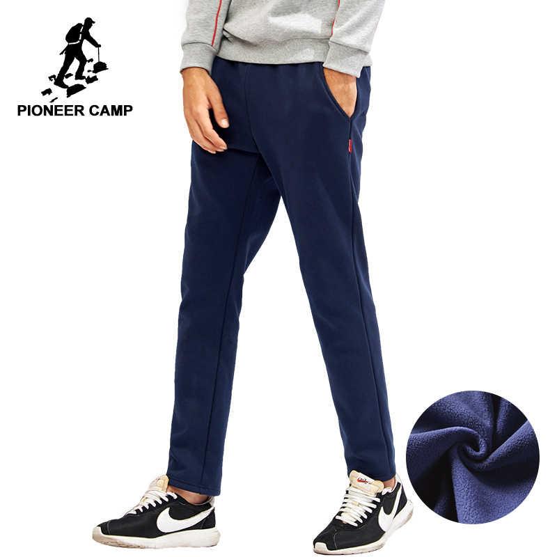 פיוניר מחנה חדש מוצק עבה צמר מכנסי טרנינג גברים מותג בגדי ישר צמר חם מכנסיים זכר איכות כותנה AWK702320