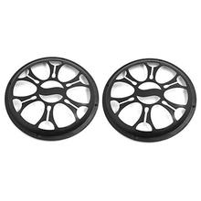 Adeeing 2pcs 10 inch Universal Car Plastic Grill Mesh Cover Fits 10 Inch Speaker Subwoofer R30