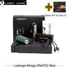 100% Original Lostvape Mirage DNA75C Mod 100w Box Mod Vaporizer powered by 18650 20700 21700 battery Vape VS Alien VGOD PRO 150