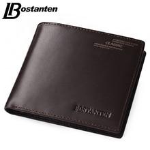 Bostanten Coffee New Sale Vintage Men Vertical Style Cow Leather Men Wallet Men Designer Carteras Money Clip Men Purse