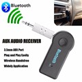 100 pcs DHL 3.5mm Receptor de Música de Áudio Sem Fio Bluetooth Speaker com Mic Aux Adaptador Dongle para o Carro Kit Casa aparelhos de som Fone De Ouvido