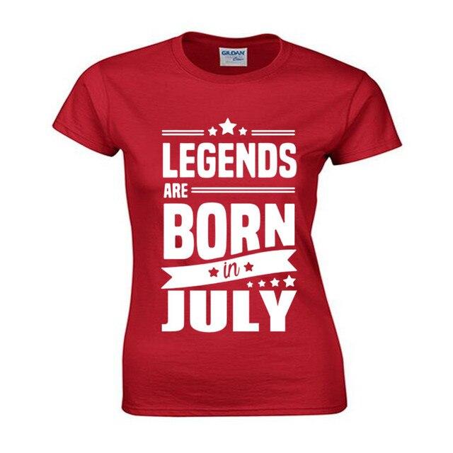 4ad9a9b9 Legends Są Urodzony W Lipcu Śmieszne Urodzinowy Tata Prezent Moda Kobiety T  Shirt Fajne Topy Bawełna