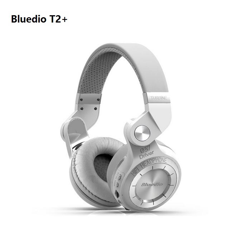 2016 Bluedio T2+ Bluetooth Headphones Foldable 4.1 brand earphone Support FM radio& SD Card Functions For mp3 Music Wireless ear image