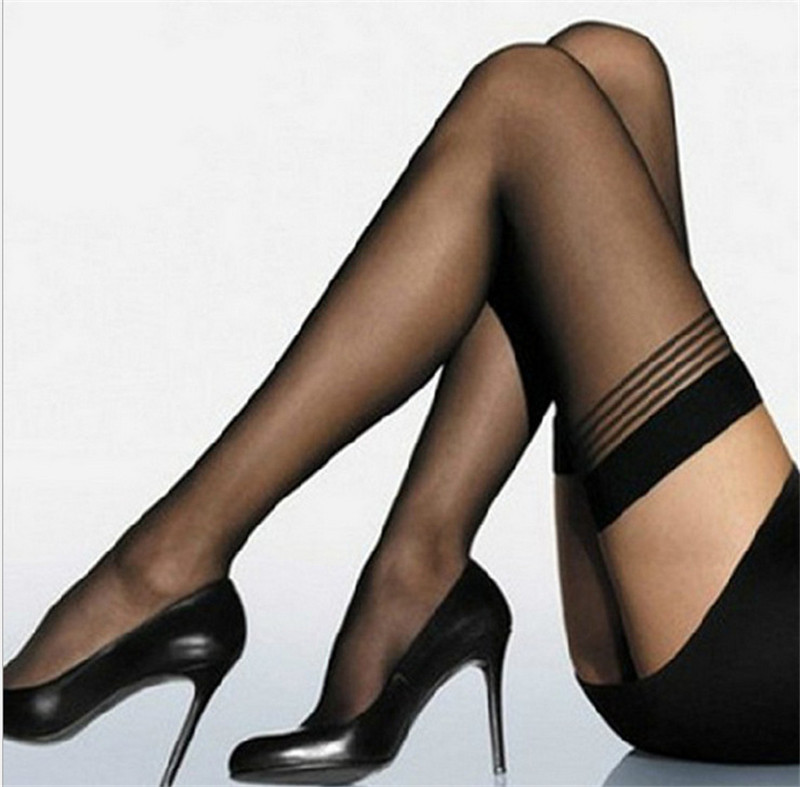 2019 Brand New HOT Sexy Women Girl Temptation Sheer Mock Suspender Tights Pantyhose Striped Stockings