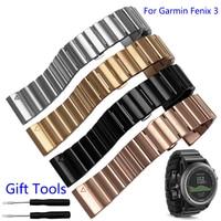 26mm Width Stainless Steel Metal Strap For Garmin Band Metal Watch Band For Garmin Fenix 3