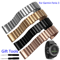 26mm Width Stainless Steel Metal Strap For Garmin Band Metal Watch Band For Garmin Fenix 3