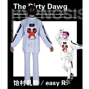 Anime Cosplay Costume Division Rap Battle easy R The Dirty Dawg Full Suit White hoodies A
