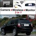3 in1 Especial Cámara de Visión Trasera + Receptor Inalámbrico + Sistema de Aparcamiento Monitor del espejo Para Land Rover Freelander 2 2006 ~ 2015