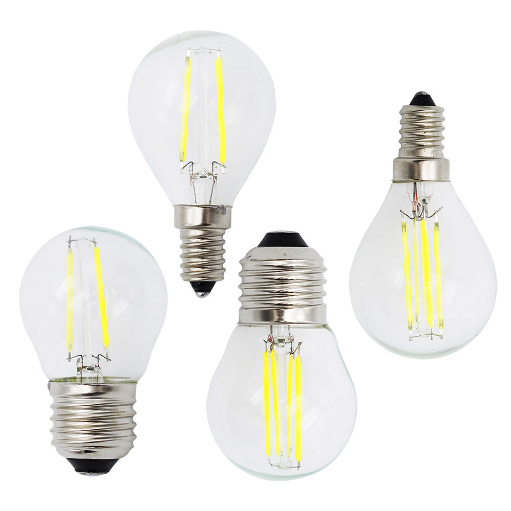 E14 Led Us 1 35 35 Off Brand New E27 Edison Lamp E14 Led Filament 4w 8w 12w Dimmable G45 Glass Ac 220v 110v Candle Bulb Light Chandeliers In Led Bulbs