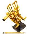 Золото Гонки ЧПУ Регулируемый Задний устанавливает комплект для Задних подножки Для YAMAHA YZF R6 06-14 2007 2008 2009 2010 2011 2012 2013