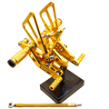 Gold Racing CNC Adjustable Rear sets Rear set Foot pegs For  YAMAHA YZF R6 06-14 2007 2008 2009 2010 2011 2012 2013