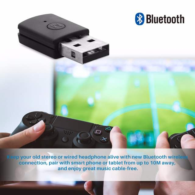 US $8 33 27% OFF|Wireless USB Bluetooth Adapter V4 0 Dongle Music Sound  Receiver Adapter Bluetooth Transmitter for PS4 Controller Computer PC-in
