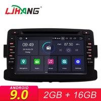 LJHANG 1 Din Android 9,0 автомобильный DVD для Dacia/Sandero/Duster/Captur/Lada/Xray 2/Logan 2 gps Navi Wi Fi Bluetooth мультимедийный плеер