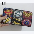 2017 Unisex Marvel Wallet Fashion Retro PU Leather Supercool Superhero Hype Rivet Graffiti Zip Handy Slim Purse Dollar Price