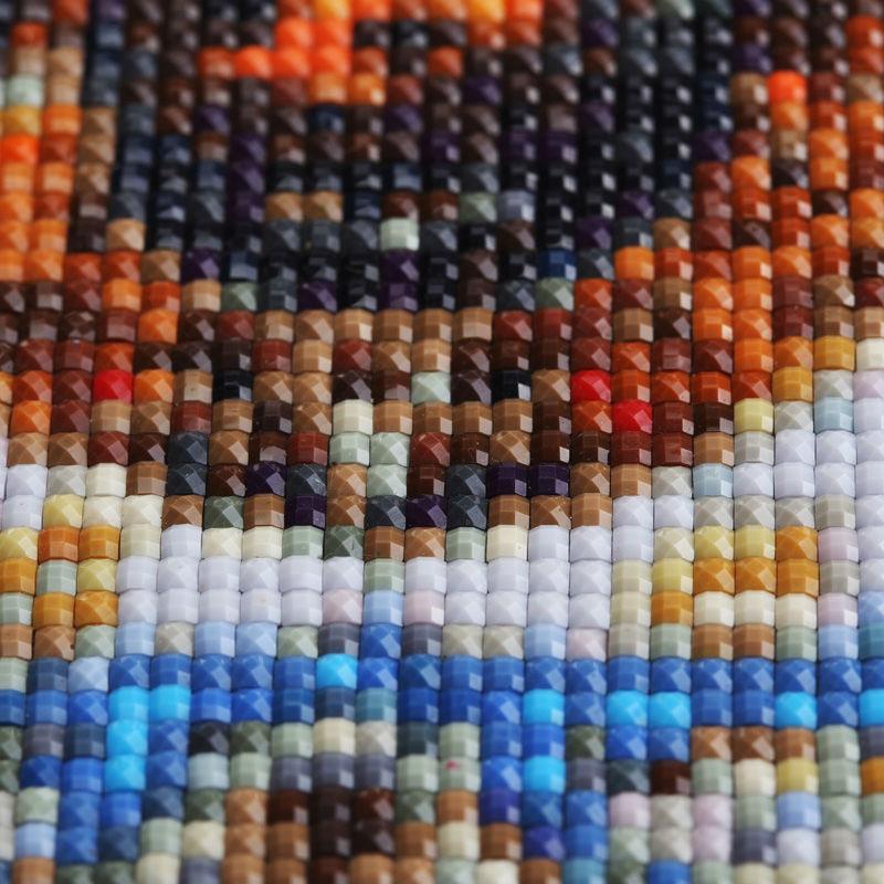 DIY 5D Beach Cat Pattern Resin Diamond Painting Mosaic Cross Stitch Crafts Decor