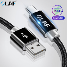OLAF 1M 2M 3M Nylon USB Type C Cable for Samsung Galaxy Note 9 S9 S8 Fast Charging Data Cable for Xiaomi Mi6 Huawei USB Type-C недорого