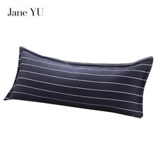 Jane YU 100% Cotton Fashion 48*120cm 48*150cm Long Pillowcase Soft Breathable Pillow Case Cover