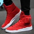 Free Shipping 2017 Fashion Men's High Top Pocket Causal vulcanize Shoes Red Black Blue Hip Hop Flat Shoes Lace Up Zapatos Hombre