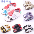Free Shipping 1pair Genuine Leather Baby First Walkers+age3-12 months,Antislip Kid Boy/Girl soft Shoes,Infant/Newborn Pre-walker