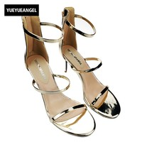 2017 Euro Fashion Womens Shiny Patent Leather High Heels Shoes For Ladies Black Zippers Party Dress
