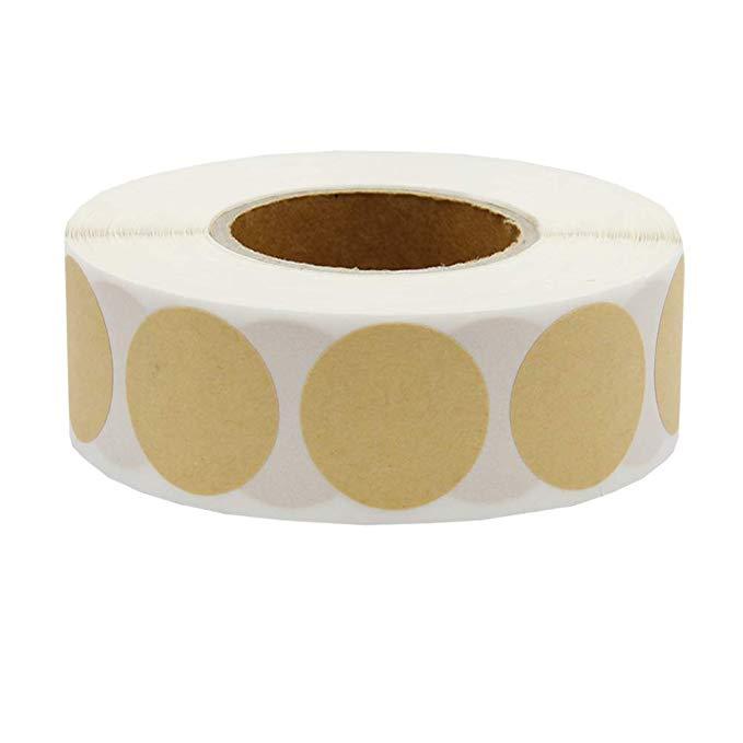 Купить с кэшбэком 1 inch Blank round craft Stickers seal labels 500 Labels per roll theacher DIY stickers for Package adesivo sticker stationery