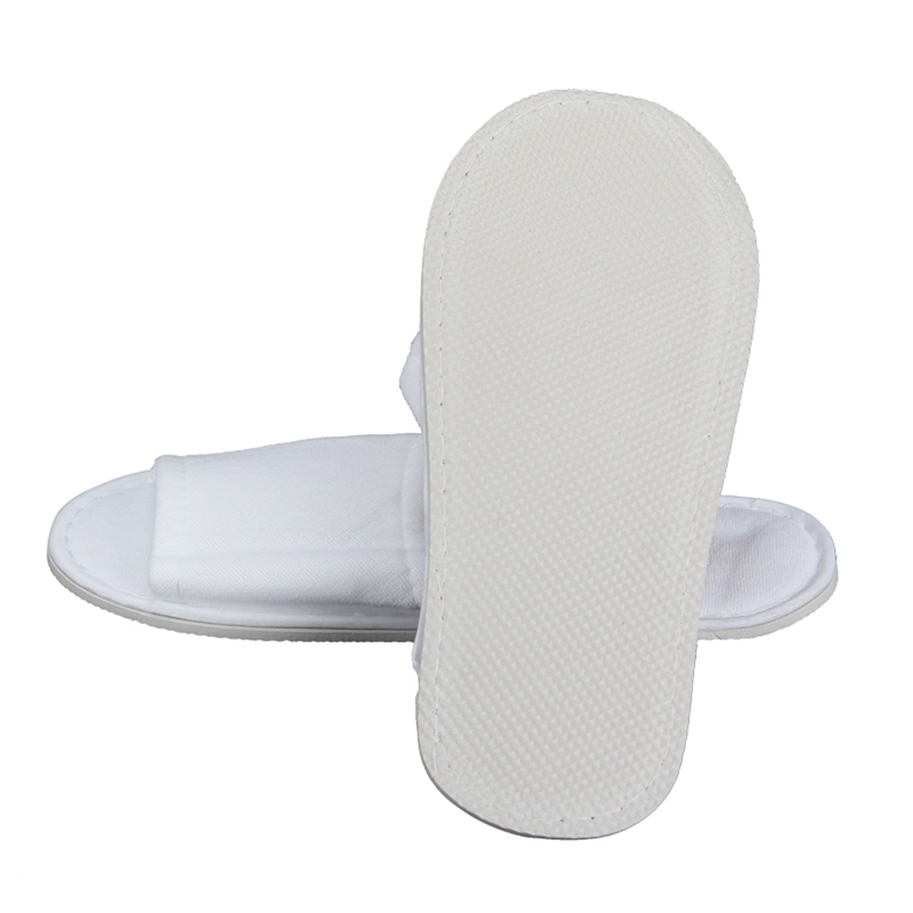 5 STAR HOTEL QUALITY BULK 100x TERRY TOWELLING WHITE GUEST// SPA// HOTEL SLIPPERS