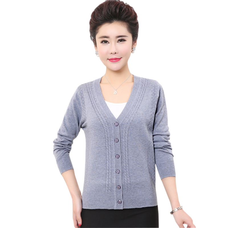 2018 Spring Ladies Wool Knit Sweaters Outwear Coats V-Neck Loose Long Sleeve Tops Women Short Plus Size Sweater Cardigans RE0243