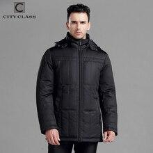 VILLE CLASSE Nouveau hommes épais chaud veste d'hiver coton poly mode longue classique amovible chapeau livraison gratuite vestes d'hiver 13250