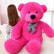 big bow hot pink teddy bear toy huge bear doll gift about 180cm