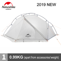 Naturehike ultralight outdoor bivouac tent easy setup 1 person camping gear 150D silicone coated nylon tents with groundsheet