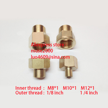 Female  M8  M10 m12 x1 nut converter brass to Male 1/8 1/4 inch coupling brass coupler copper pipe joint connector meter tapping