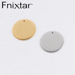 Fnixtar Stainless Steel Punk Wheel Gear Charm Mirror Polished Round Filigree Gear Charms DIY Pendan Jewelry 20mm 20Piece/lot