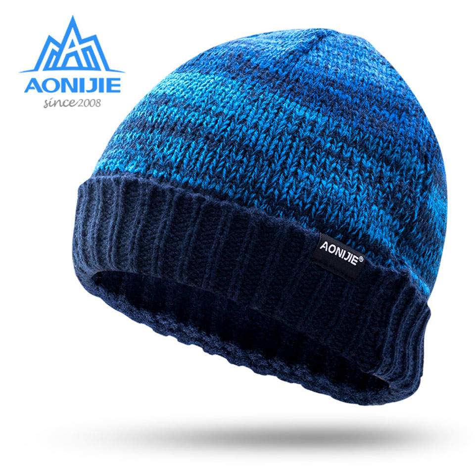 AONIJIE Outdoor Running Cap Warm Hat Sport Running Caps Climbing Hiking Cycling Knitting Hat For Men Women Winter Knitting