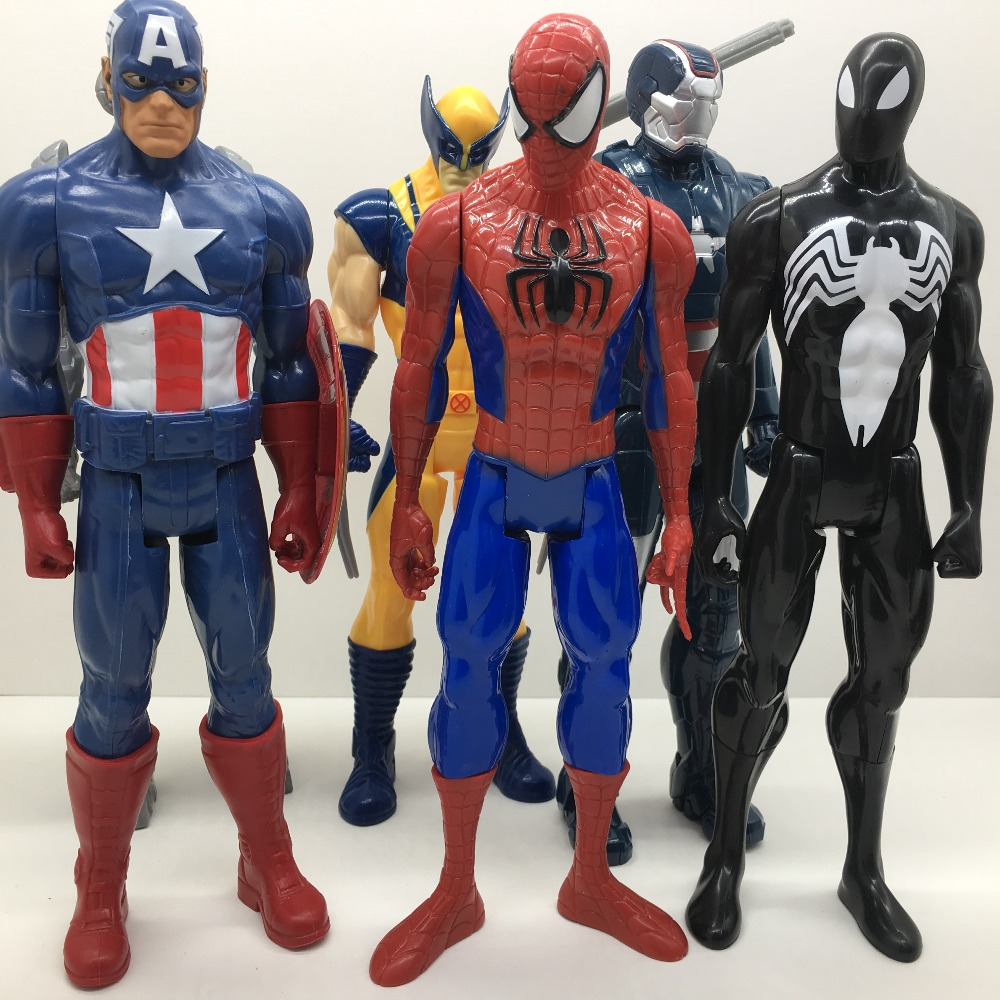 30cm Avengers Super hero Doll  Captain America Iron Man Thor SpiderMan Action Figures Toy For Kids Gifts NO BOX new hot 27cm avengers super hero captain america enhanced version action figure toys doll collection christmas toy with box