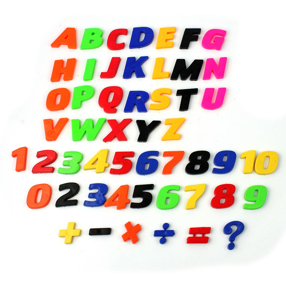 52pcsset funny plastic magnetic teaching fridge magnets letter alphabet numbers baby child educational toy