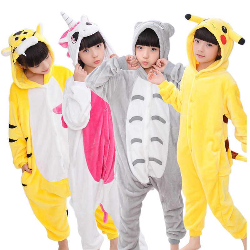 Детские пижамы для девочек и мальчиков пижамы Тоторо Пикачу Панда Детские  Единорог свинья кошка Stitc детские 071f672cb6098