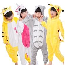 Kids Pajamas for girls Boys sleepwear Totoro Pikachu Panda kids Unicorn Pig Cat Stitc Baby pyjama